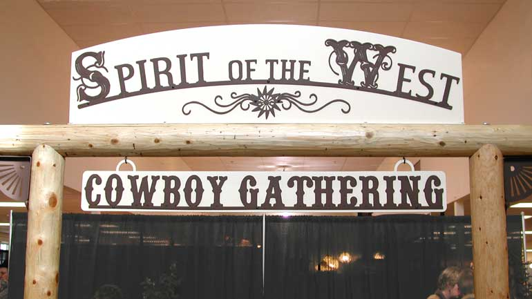 Commercial Sign for Spirit of the West Cowboy Gathering