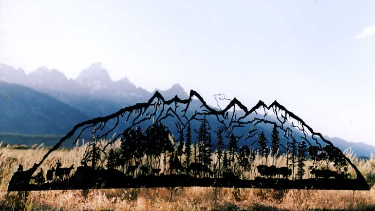 The Grand Tetons decorative silhouette.