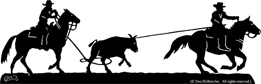 cowboy roping silhouette car interior design Team Roping Cartoon team roping clipart free