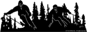 18 inch x 48 inch Skiers Decorative Silhouette