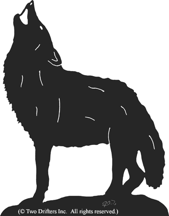 Howling Wolf 2 Weathervane