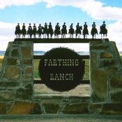 Ranch Sign - Farthing Ranch, with 14 Cowboys