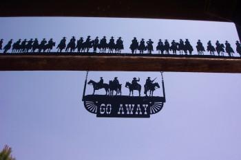 30 Cowboys & Go Away Signs