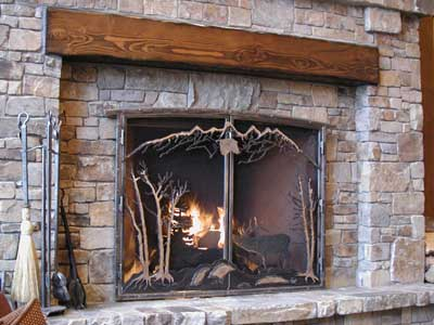 Fireplace Screen at Suncadia Resort