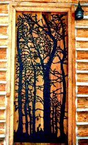 Cottonwood Tree Door Panel