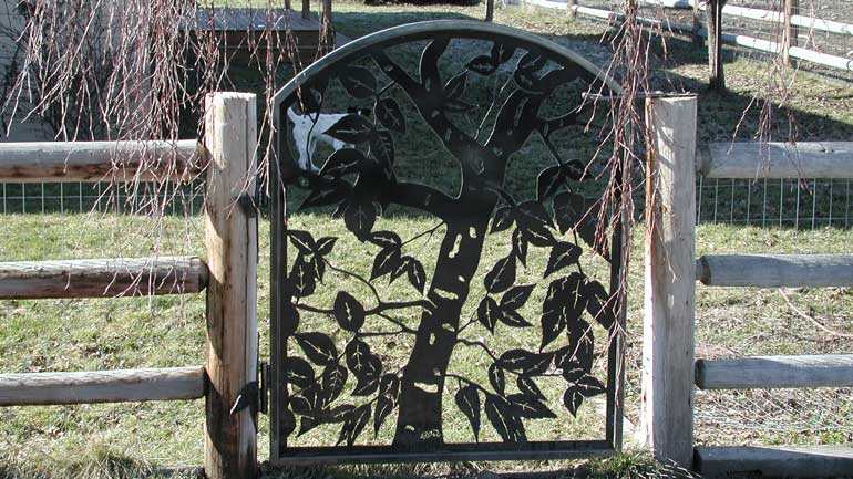 Birch Metal Gate