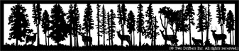 24 inch x 112 inch Deer, Fox Balcony Panel