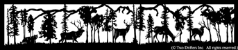 24 inch x 114.5 inch Bear, Elk, Deer Balcony Panel