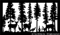 26 inch x 44 inch Deer Turkeys Balcony Panel