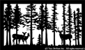 26 inch x 44 inch Deer Balcony Panel
