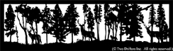 26 inch x 88 inch Deer, Wolf Balcony Panel