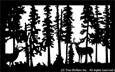 28 inch x 44.75 inch Deer Balcony Panel