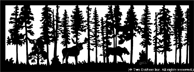 28 inch x 75.75 inch Moose 2 Balcony Panel