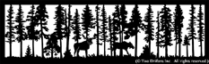 28 inch x 90.5 inch Moose Balcony Panel