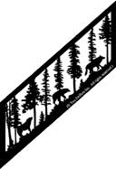 19.5 inch x 59.5 inch Wolf Stair Panel