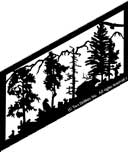 22.5 inch x 46.5 inch Cougar Stair Panel