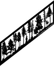 22.5 inch x 82 inch Trees Stair Panel