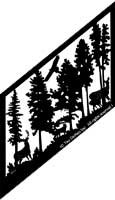 29.5 inch x 53.5 inch Deer Stair Panel