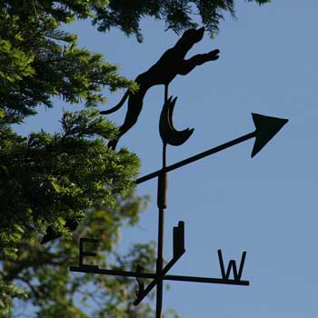 The same weather vane today, flying over Dick and Jane's house