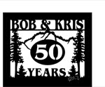 15 inch x 18 inch Trees, Mountain Name Sign
