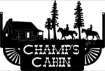 16.25 inch x 24 inch Champs Cabin Name Sign