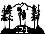 19.5 inch x 27.5 inch Trees, Mountain Name Sign