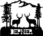 20 inch x 24 inch Deer Name Sign