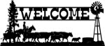 21.5 inch x 48 inch Cattle Drive Name Sign