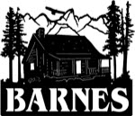 21 inch x 24 inch Cabin, Mountains Name Sign
