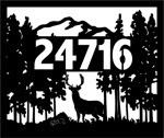 21 inch x 25 inch Deer Name Sign