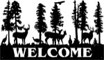 28 inch x 48 inch Deer, Turkey Name Sign