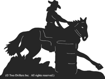 Horse - Barrel Racing 2 Weathervane