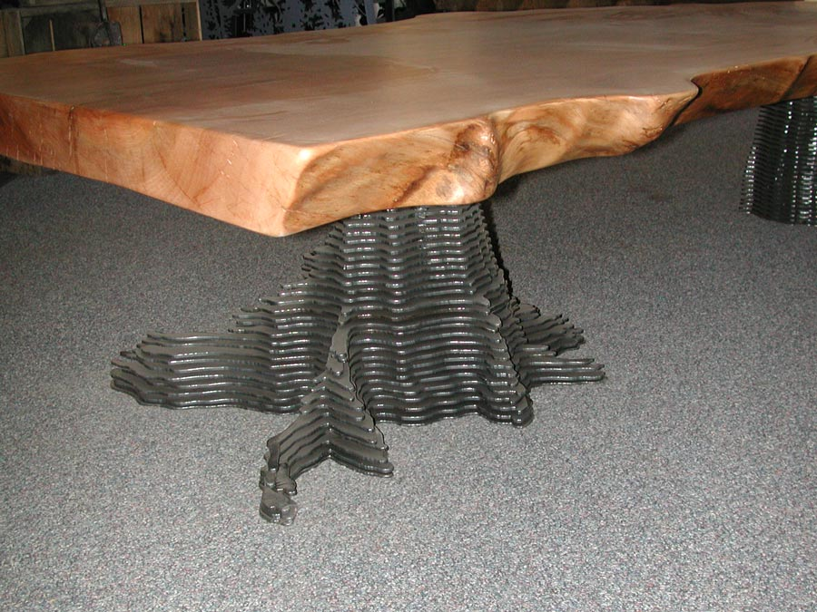Lovely Coffee Table Wtih Layered Stump Base